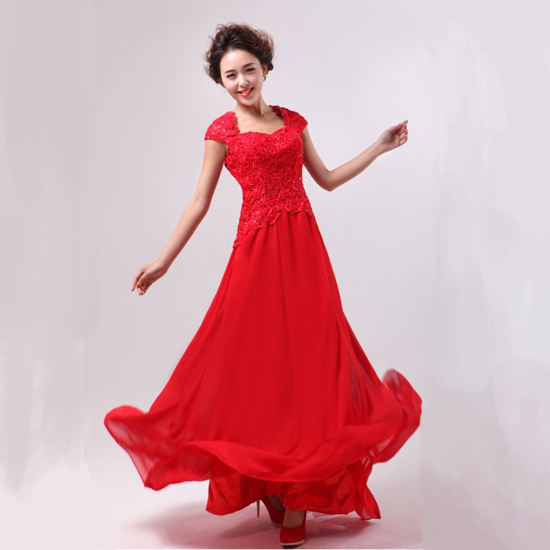 Yarn the most 2012 formal dress water soluble lace formal dress evening dress princess bride dress 8050