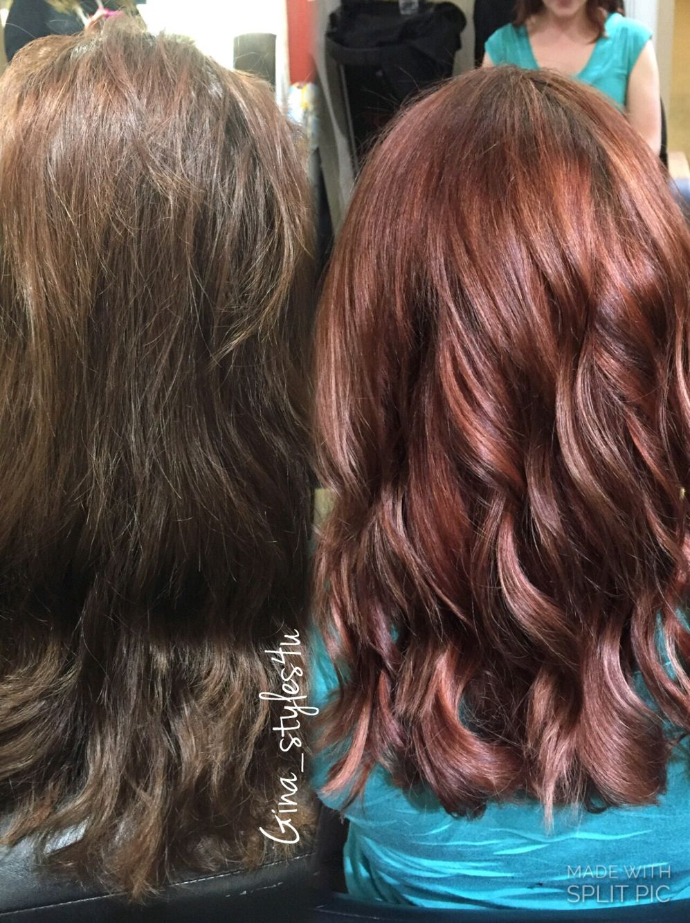 Rose gold hair color on previously brown hair color correction ...