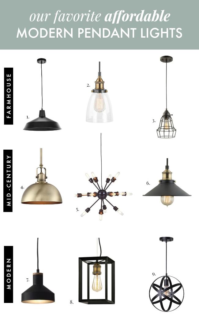 Affordable Pendant Lights For Modern Farmhouses La Petite