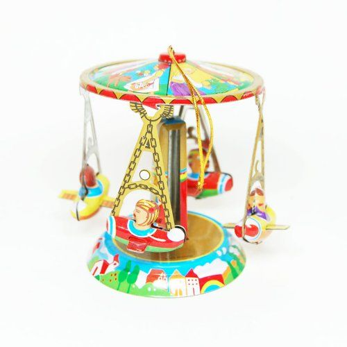 "Carousel Hanging Mobile, Circus Metal Tin Toy, Tin Toy Collection, Size : 3"" Tall Classic Tin Toy,http://www.amazon.com/dp/B00BSBFK7I/ref=cm_sw_r_pi_dp_DFuisb0W8VE11JSB"