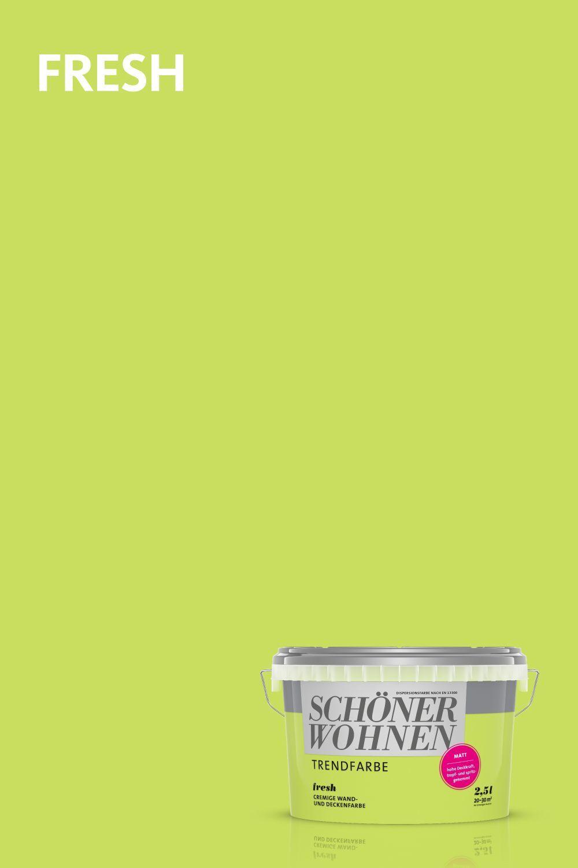 Trendfarbe Fresh Schonerwohnen Fresh Eine Der Originalen Trendfarben Von Schoner Wohnen Farbe In 2020 Cooler