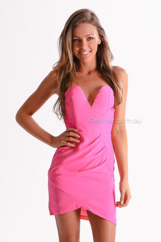 miracle worker cocktail dress - pink | Esther clothing Australia ...