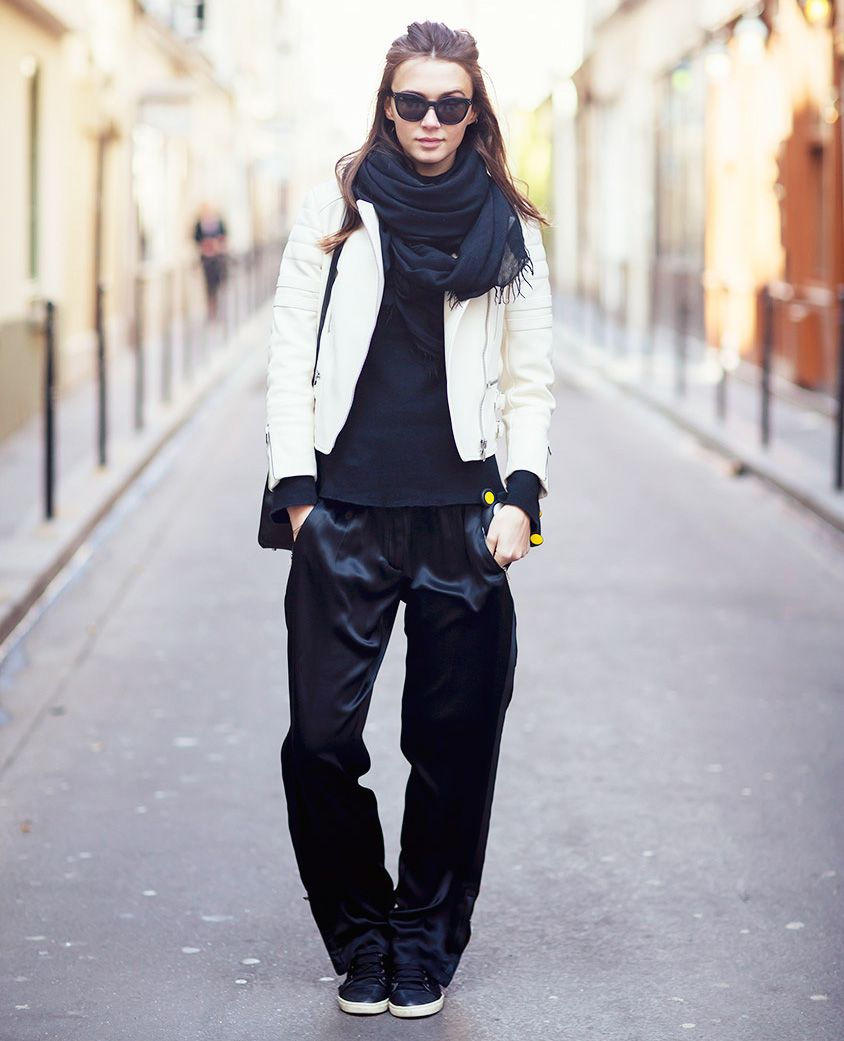 ee923e523b how to wear a white leather jacket for fall