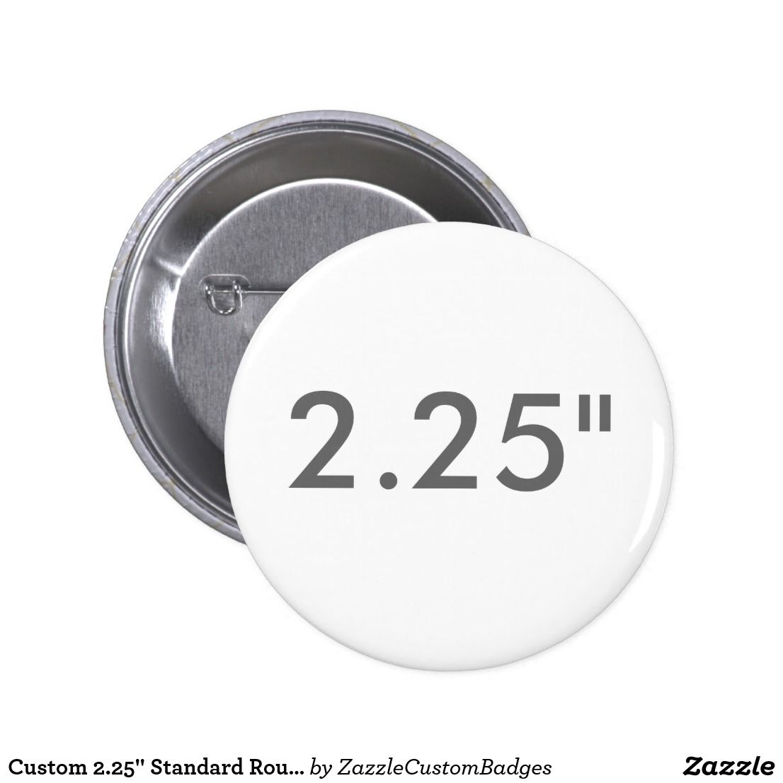 custom 2 25 standard round badge blank template pinback button
