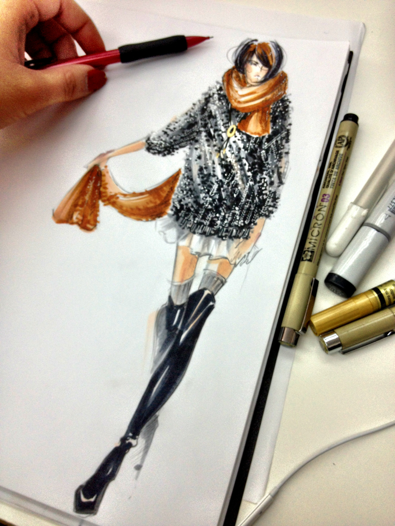 chanel sweater knit | fashion illustration | Fashion ...