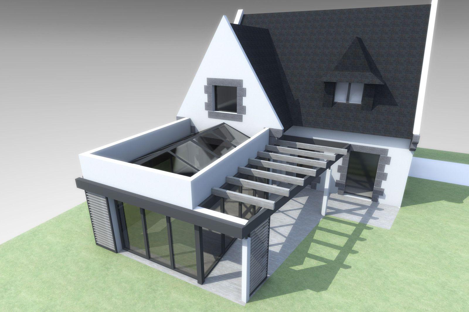 Agrandissement Maison Néo Bretonne album - maison i - extension véranda et rénovation d'une