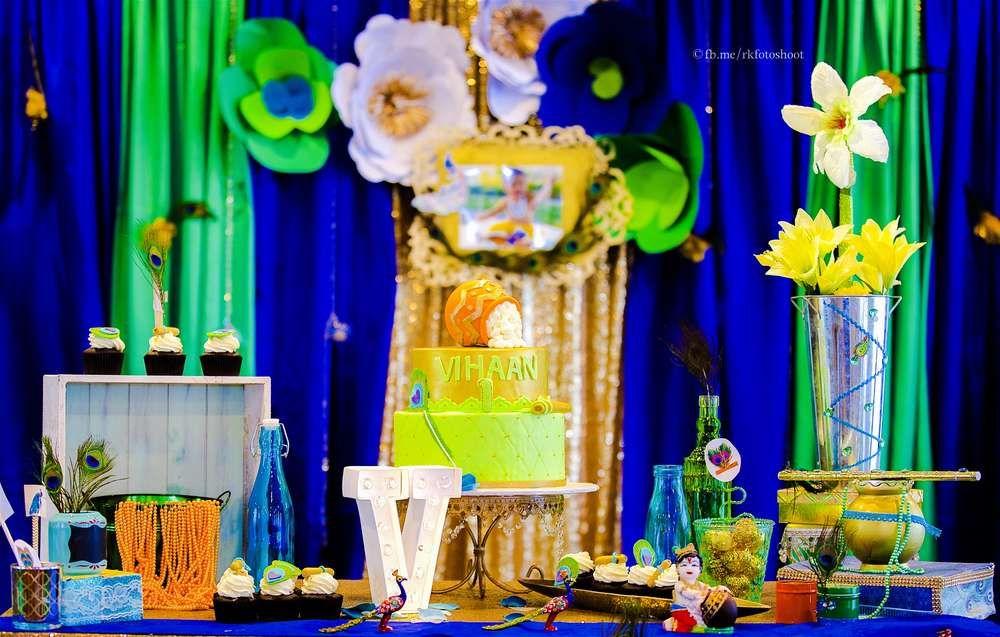 Krishna Theme Birthday Party Ideas Photo 2 Of 25 Krishna