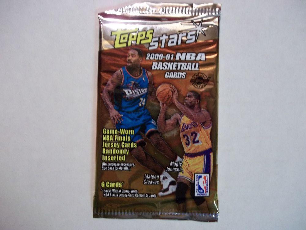 200001 topps stars basketball cards unopened pack nba