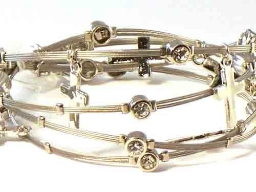 Whispers Bracelet, Wire Bracelet, Designer Inspired with Rhinestones & Cross Charm Hail Mary Gifts, http://www.amazon.com/dp/B007SHCD3U/ref=cm_sw_r_pi_dp_Hl5Uqb1AZ5PQZ