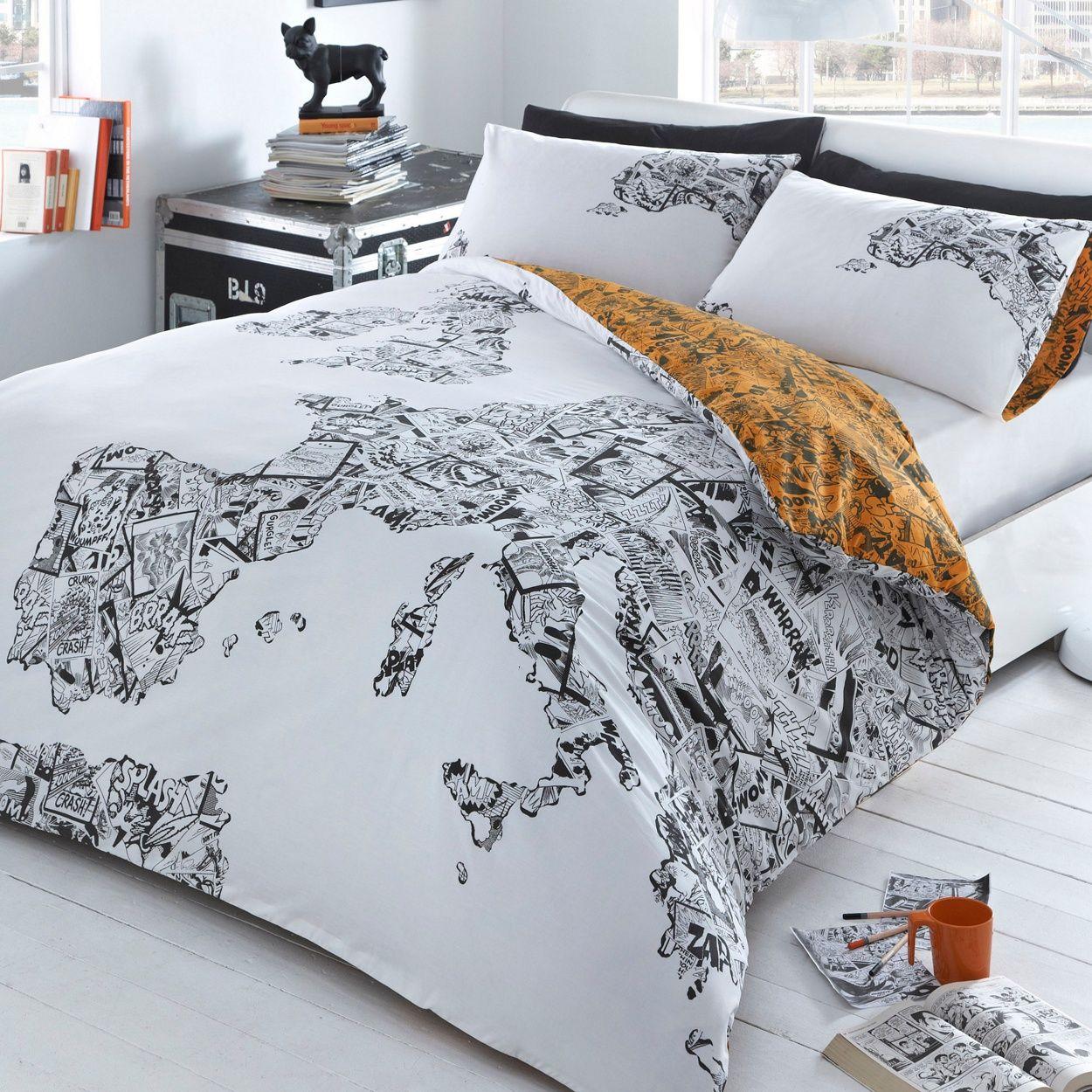 Ben de lisi white comic map bedding set at debenhams my ben de lisi white comic map bedding set at debenhams gumiabroncs Choice Image