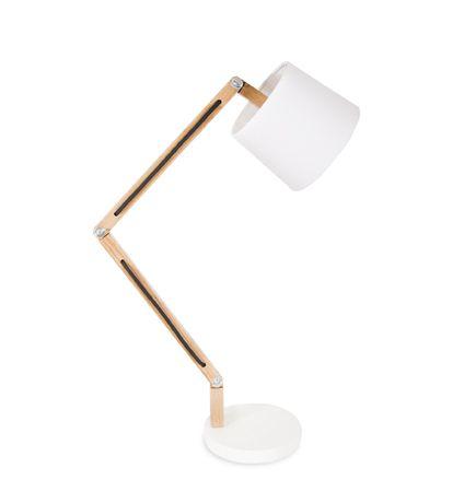 Wooden lamp shade base set swivel lamp