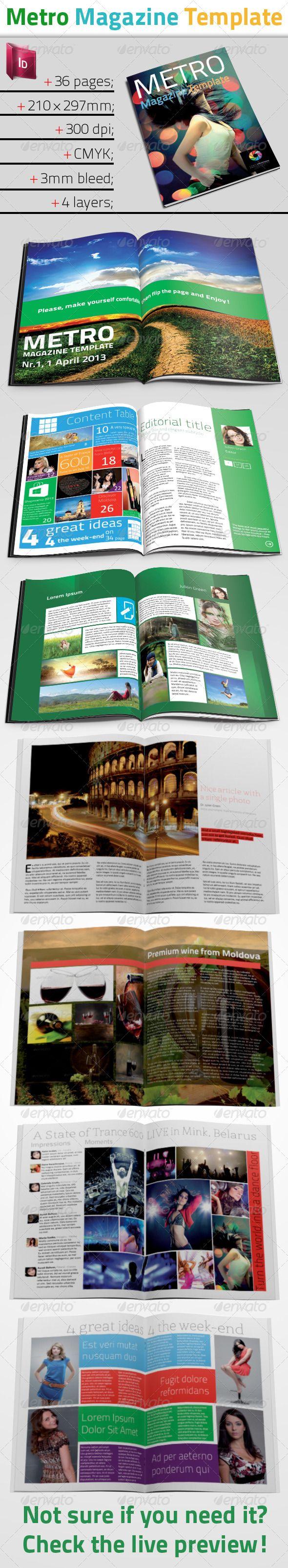 Metro Style Magazine - InDesign Template