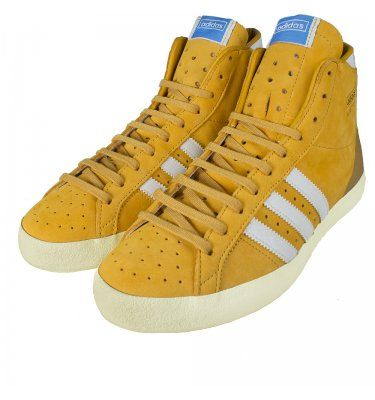 Adidas Originals Hi Top Basket Profi OG Trainers Yellow