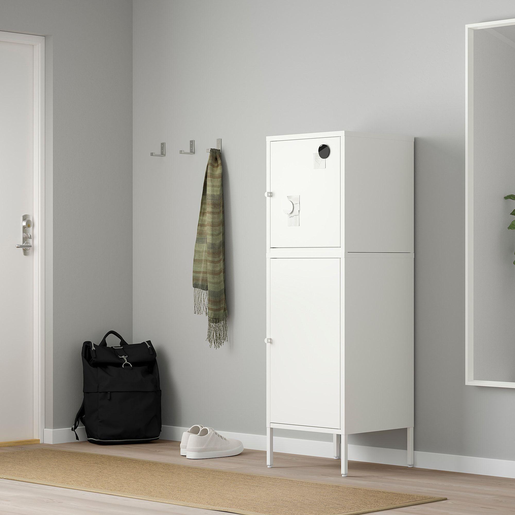 Armadio Con Lucchetto Ikea.Hallan Mobile Con Ante Bianco 45x47x142 Cm Ikea It Nel 2020 Organizzazione Delle Idee Idee Ikea Interni
