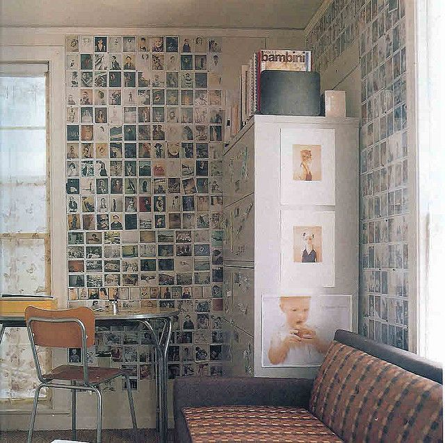 photo wall. via Blueprint magazine