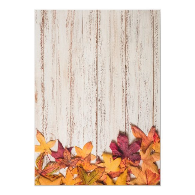Fall in Love Bridal Shower Wood Autumn Leaves Invitation | Zazzle.com #autumnleavesfalling