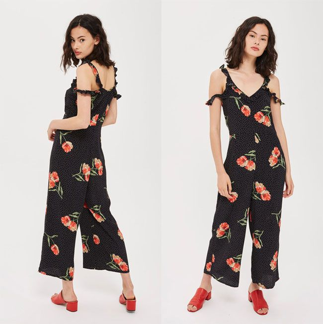 beff21c33f6 Tips to Wear On-trend Floral Prints Outfits for Spring-Summer 2018 -  TOPSHOP Jumpsuit