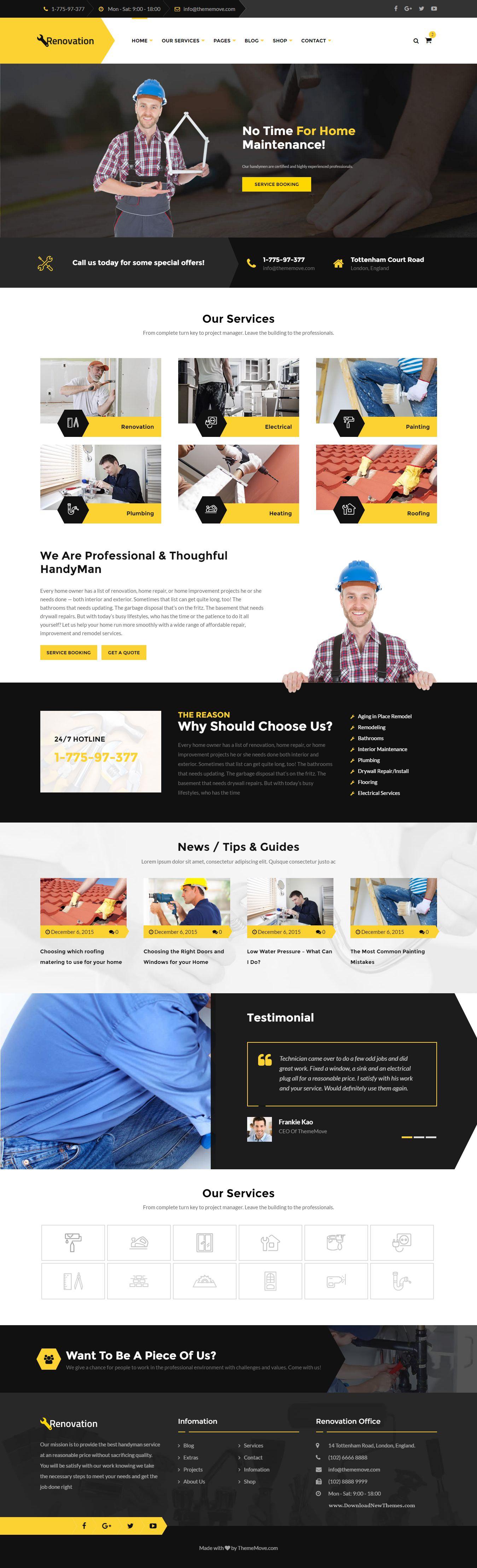 renovation wonderful home maintenance repair service html template