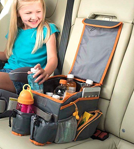 Kids Car Back Seat Organizer With Cooler For Middle