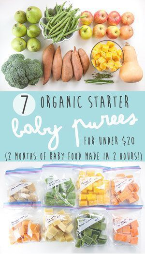 4+ Month Baby Food Recipes (Stage 1 Purees) - Baby Foode