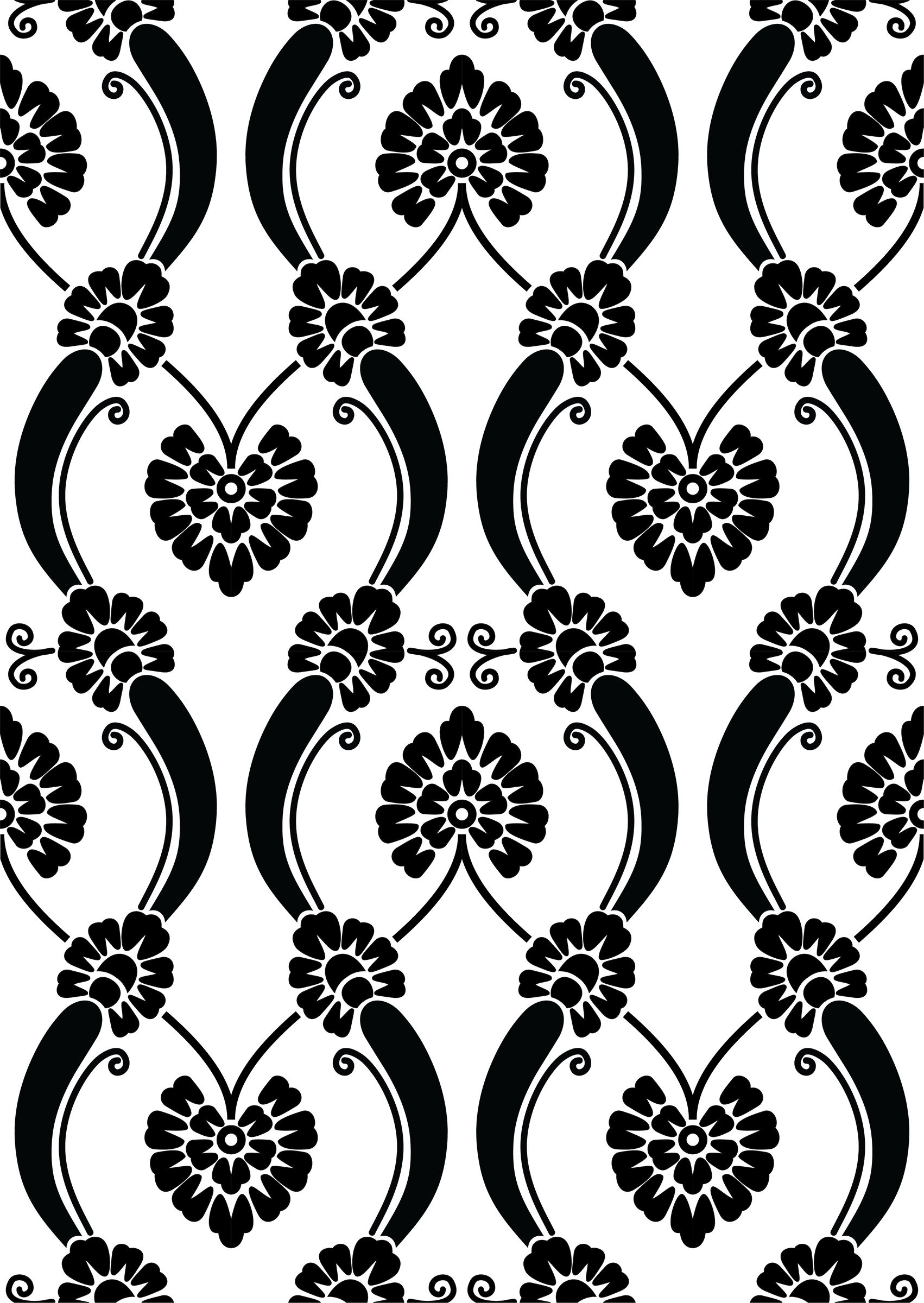 Clipart Transparent 890 88kb 1702x2400 Print Design Pattern Floral Border Design Digital Borders Design