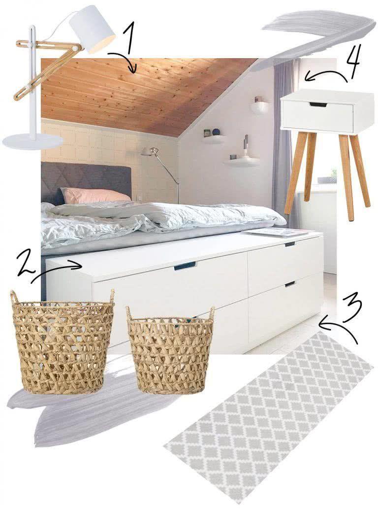 Schlafzimmer mit Dachschrägen optimal einrichten   Schlafzimmer dachschräge, Wohnen, Bett unter ...