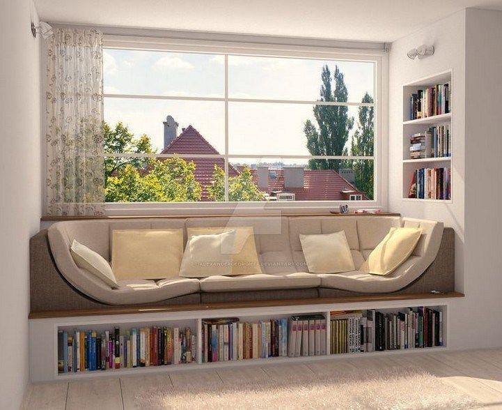 45 erstaunliche Bücherregale Fensterplatz inspirieren 13 - Home Design Ideas | 4174