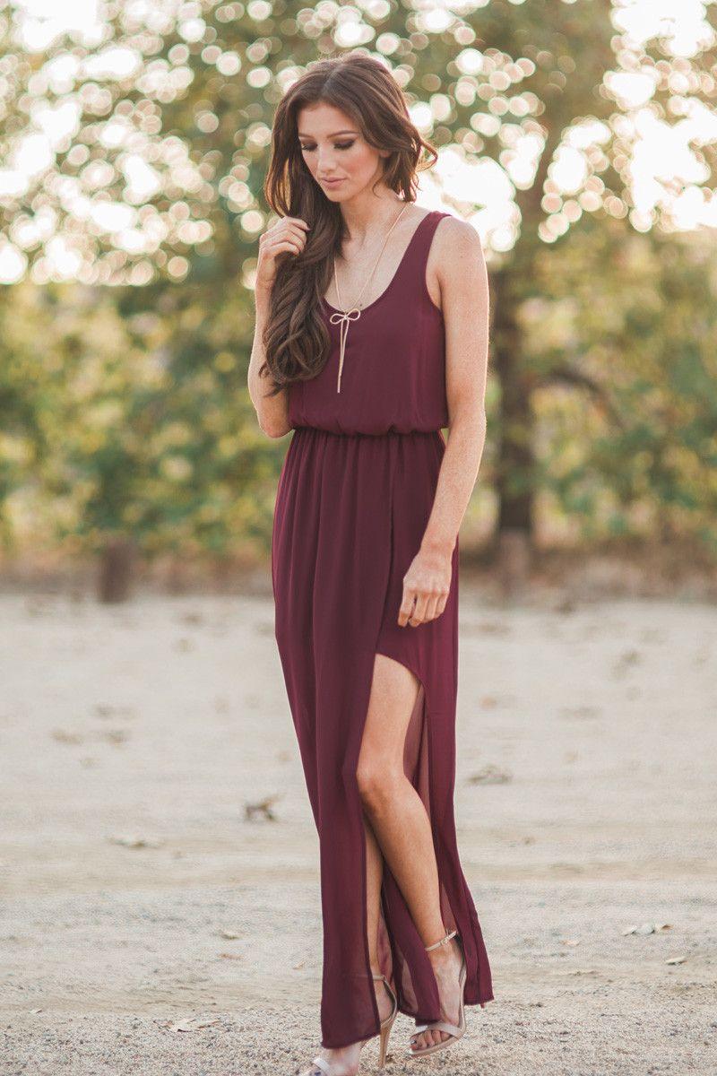 Morning Lavender Maxi Dresses Long Dresses Slit Maxi