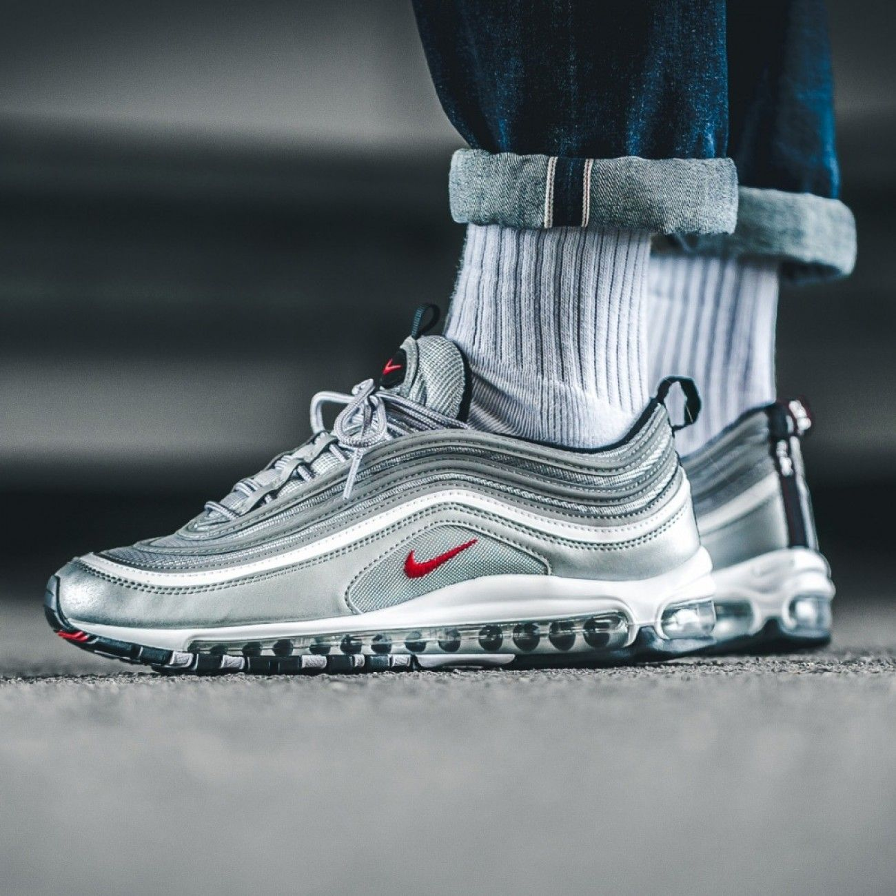 nike air max 97 og qs silver bullet air max 97 silver. Black Bedroom Furniture Sets. Home Design Ideas