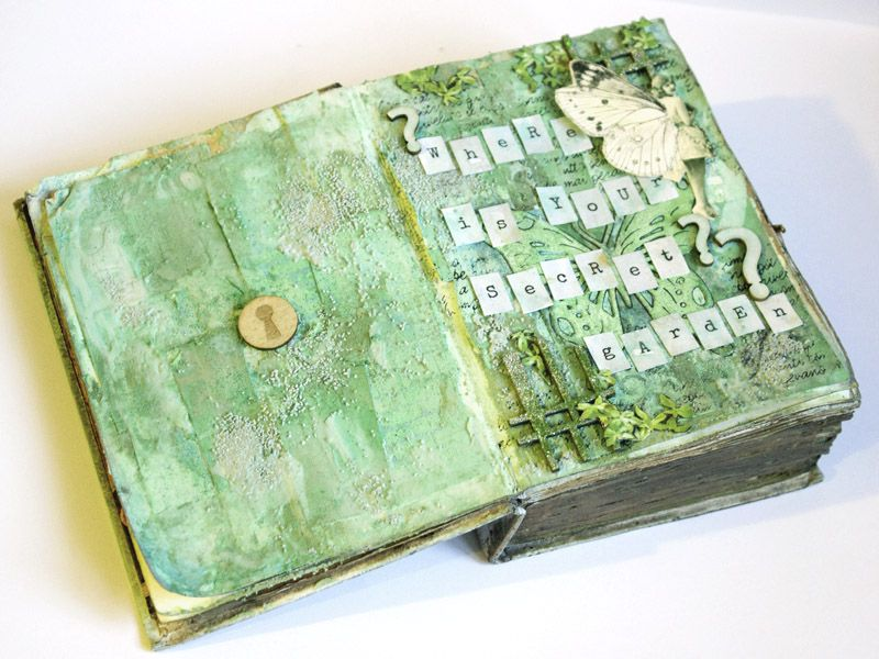 altered book about fairies