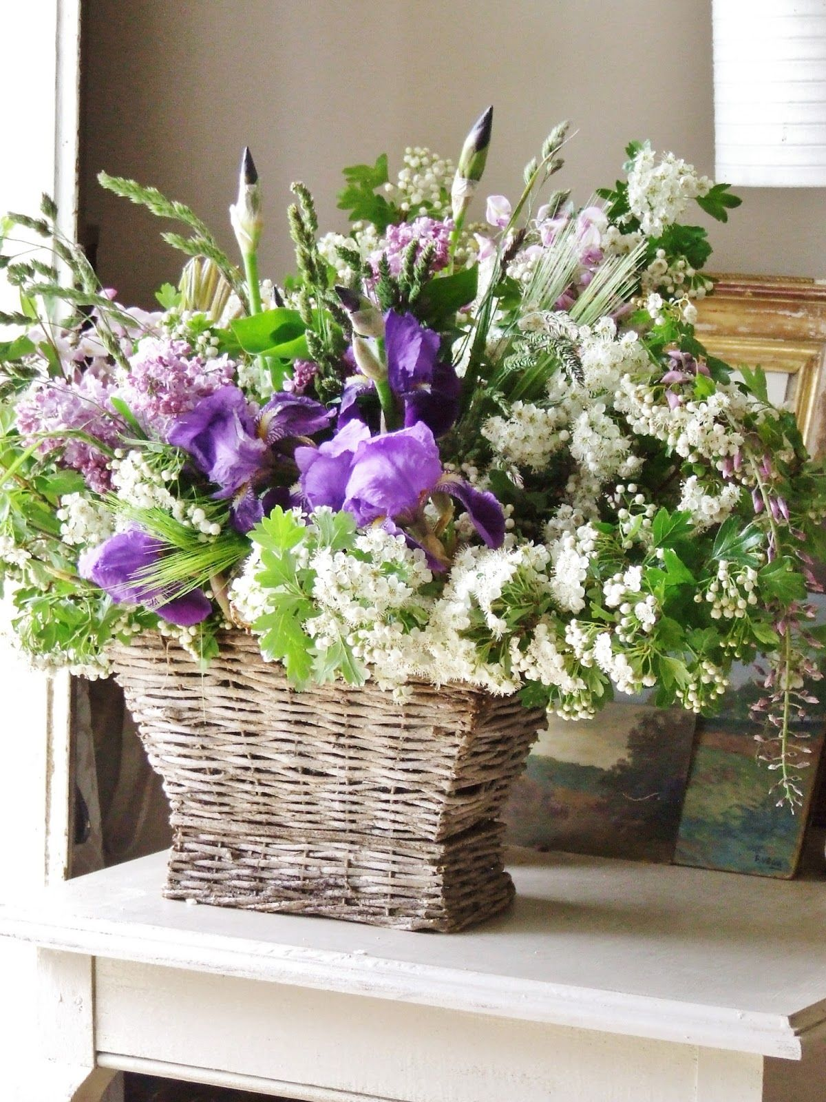 french country floral arrangments tree (or May, as