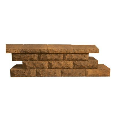 Oldcastle 12-in L x 4-in H Earth Blend Basic Retaining Wall Block - Lowe's Canada
