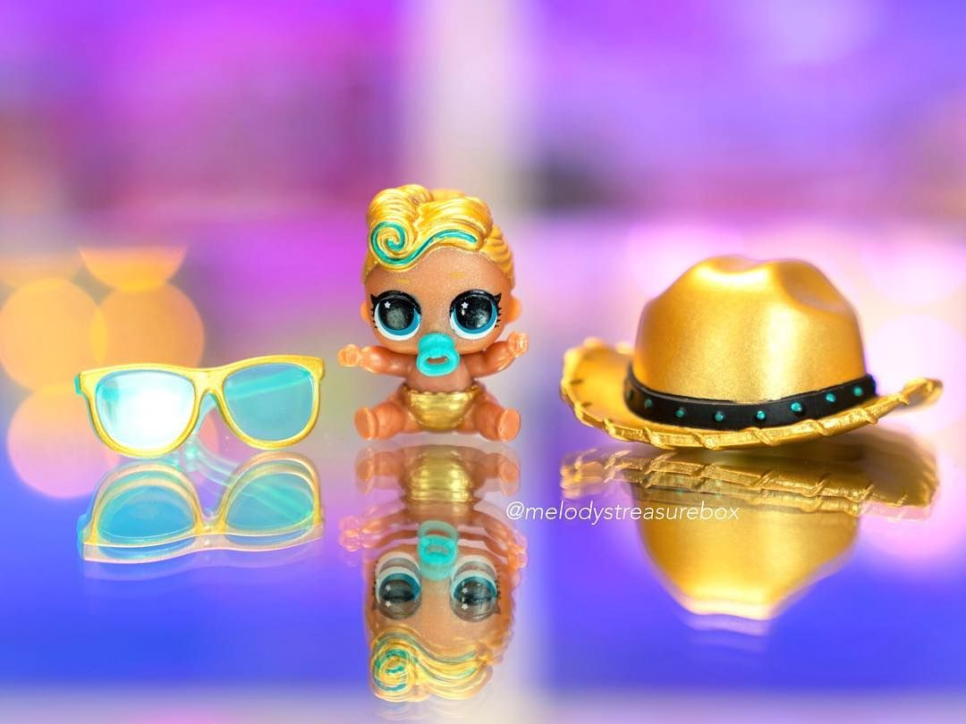 Hot LUXE Doll LOL Surprise Lil Sisters eye spy Lil LUXE 24K Doll Color Change