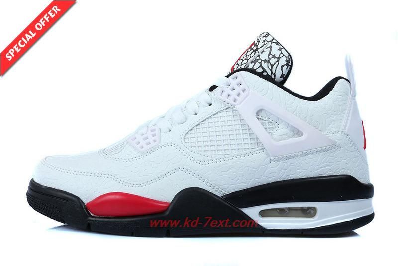 f21a5d1ecee9 AIR JORDAN 4 RETRO Temporal Rift White Black Red Mens Outlet Stores ...
