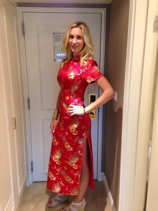 Twitter - Olga Govortsova in a Chinese dress.  b30d8f77937