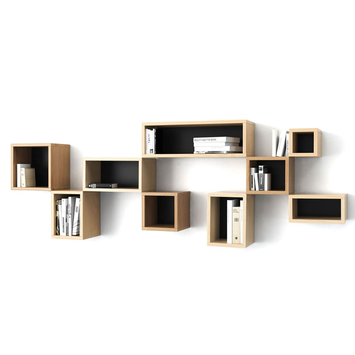 cube shelf 12x20 black | möbel, hylla, idéer