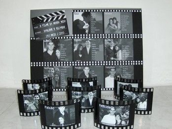 idees pour plan de table noms des invites pour mariage theme cinema mariage th me cin ma. Black Bedroom Furniture Sets. Home Design Ideas