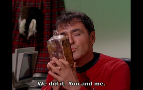That time when Scotty was the most adorable tipsy Scotsman in fictional history.