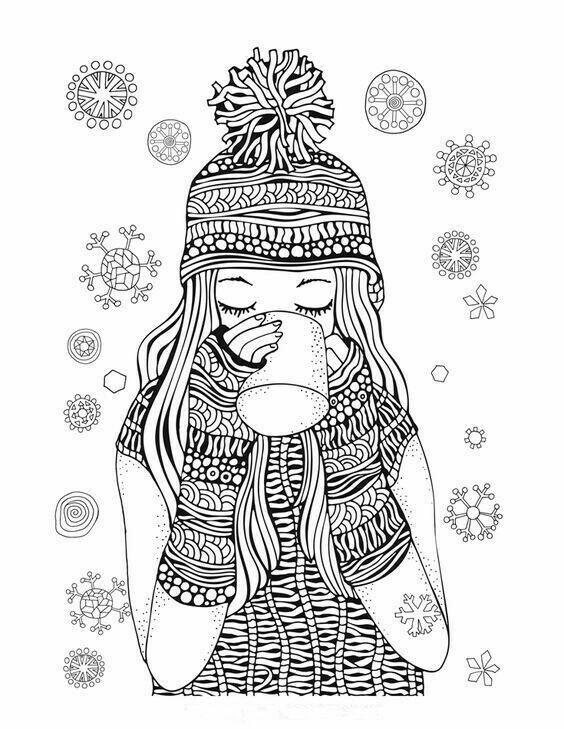 Раскраски антистресс картинки для девочек