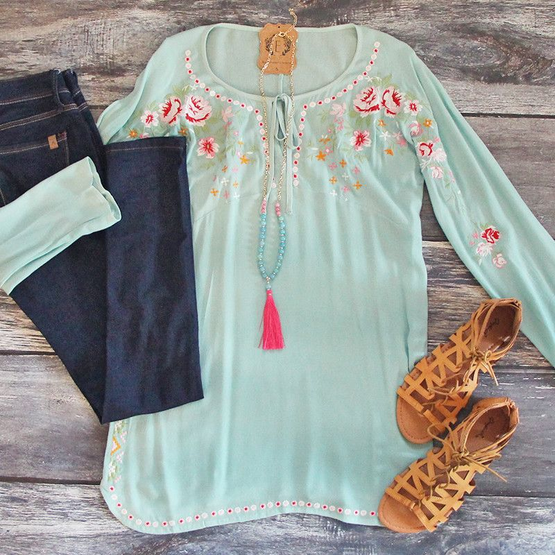 The perfect top for the beach! Fun spring colors, lightweight, and totally adorable! Shop yours for spring break!