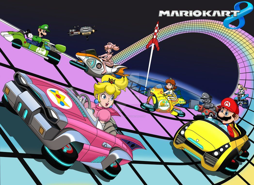 Rainbow Road Mario Kart 8 By Famousmari5 With Images Rainbow