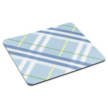 """Mouse Pad With Precise Mousing Surface, 9"""" X 8"""" X 1/5"""", Plaid Design"""