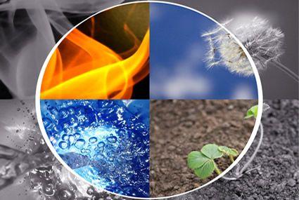 Aarde vuur lucht en water