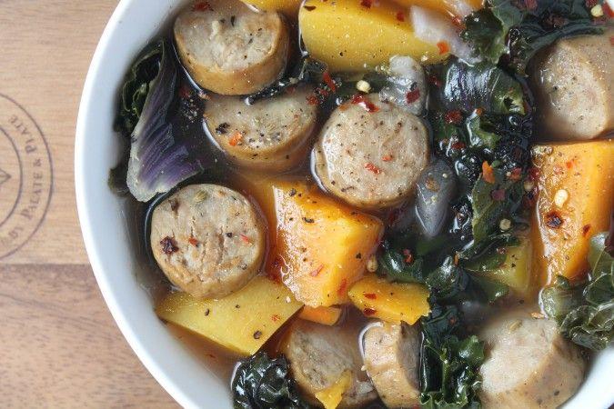Clean Gut Turkey Sausage & Kale Soup