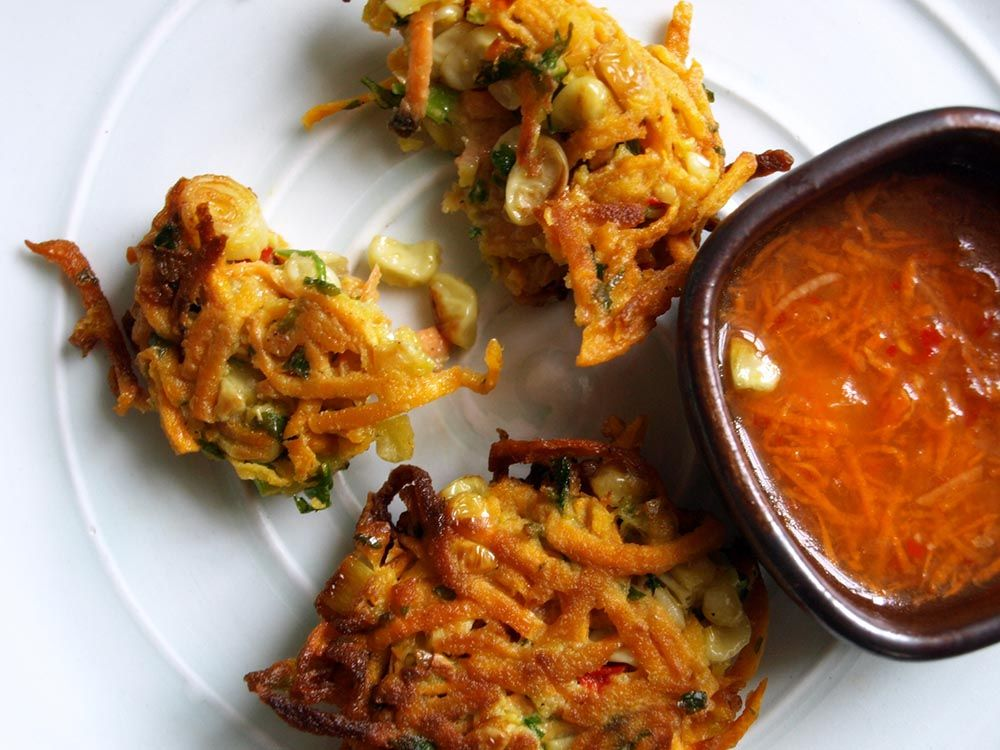 Sweet Potato and Corn Fritters With Thai Dipping Sauce