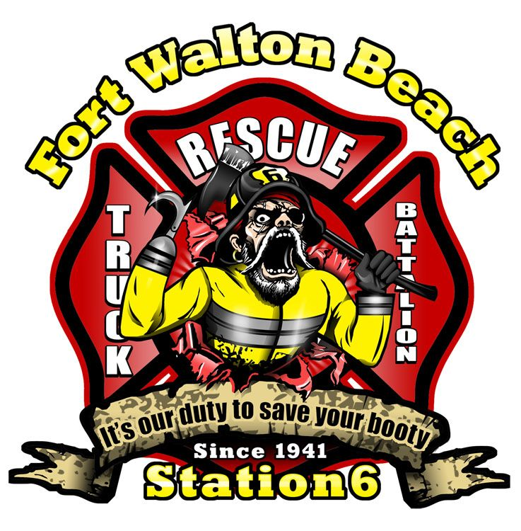 Fort Walton Beach FD station6 Fire service, Beach fire