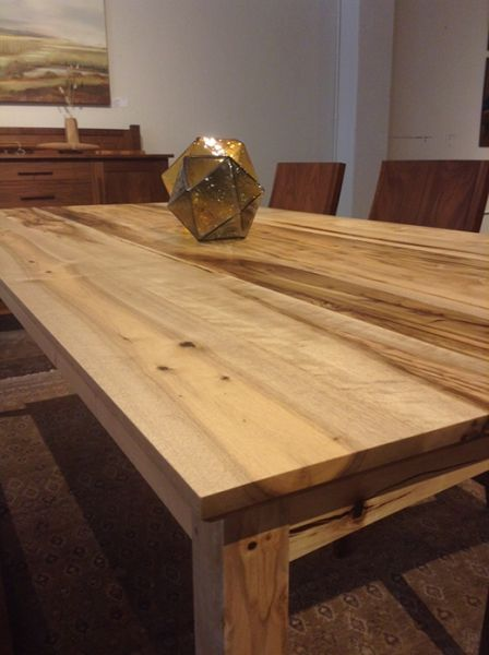Oregon Myrtlewood Shaker Dining Table The Joinery