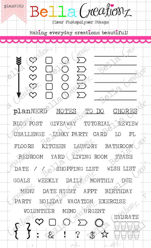 Planner Stamp Clear Stamp Set \