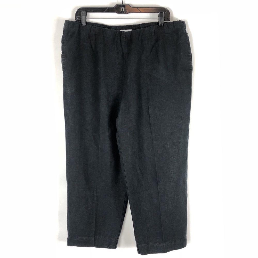 Flax Designs Floods NWT Linen Wide Leg Pants  Denim size Medium