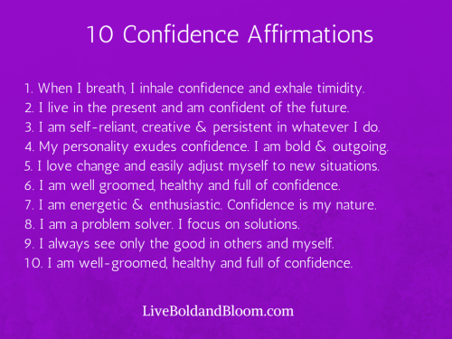 the power of positive affirmations pdf